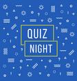 linear quiz night color banner vector image vector image
