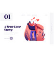 love feelings romance emotions website landing vector image