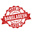 made in bangladesh round seal vector image vector image
