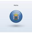 Melilla round flag vector image vector image