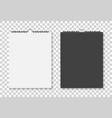 mockup square calendar with spiral mock up vector image