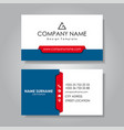 modern business card template flat design vector image