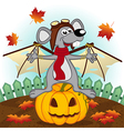 mouse dressed as bat vector image vector image