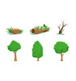 nature landscape elements set green and dead vector image vector image