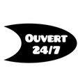 open 24-7 stamp on white vector image vector image