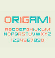 paper folding alphabet vector image
