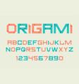 paper folding alphabet vector image vector image