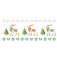 pattern deer and trees like cross-stitch vector image