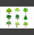 realistic trees set vector image