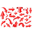 red ribbons shiny 3d signs vector image