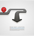 road location arrow on white background vector image vector image