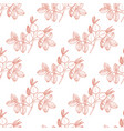 rose hip pattern in hand drawn style vector image vector image