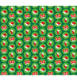 Seamless Pattern with Christmas Icons Gloves Hats vector image vector image