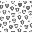 seamless pattern with keys vector image vector image