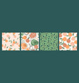 seamless patterns with peaches trendy hand vector image vector image