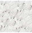 seamless wave hand-drawn pattern vector image vector image
