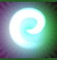 single light blue neon letter e of vector image