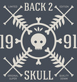 Skull t-shirt design Original tee print graphics vector image vector image