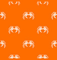 snow crab pattern seamless vector image vector image