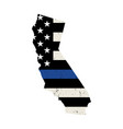 state california police support flag vector image vector image