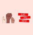 stop racism horizontal banner black lives matter vector image vector image