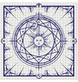 Alchemy magic circle on notebook background vector image