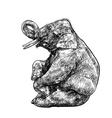 Elephant show vector image