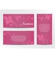 Invitation Save the Date Card Set with vector image