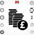 pound icon vector image