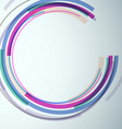 Banner with colorful swoosh element vector image