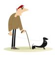 Blind man vector image