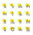 16 manager icons vector image vector image
