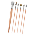 Art Paint Brush Collection Set vector image