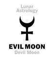 astrology evil moon devil moon vector image vector image