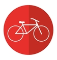 bicycle transport active sport red circle vector image