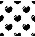 Black broken heart on white background