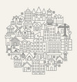 building line icons circle vector image vector image