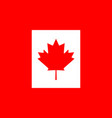 canada flag canadian leaf red maple on white vector image vector image