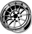 car wheel 4 vector image vector image