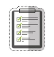 checklist clipboard isolated icon vector image vector image