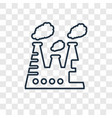chimney concept linear icon isolated on vector image