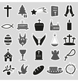 christianity religion symbols set of stickers vector image vector image