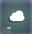 Cloud icon symbol on the blue-green abstract vector image