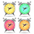 Colorful alarm clock vector image