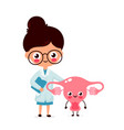 cute funny smiling woman doctor gynecologist vector image vector image