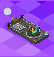 dj club bar concept 3d isometric view vector image