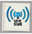 Doodle Wireless Icon vector image vector image