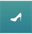 female shoes web icon design vector image