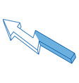 financial arrow growth progress success image vector image