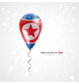 Flag of the Democratic Peoples Republic on balloon vector image vector image